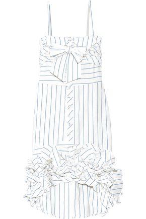 JOHANNA ORTIZ Simone striped cotton and linen-blend dress
