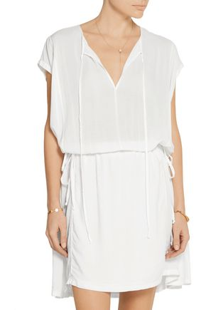 RAQUEL ALLEGRA Voile mini dress