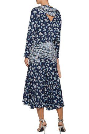 PREEN by THORNTON BREGAZZI Jana printed crepe de chine midi dress