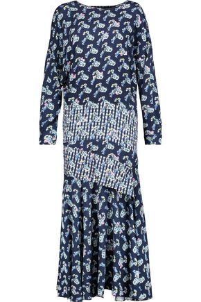 PREEN by THORNTON BREGAZZI Jana printed crepe de chine midi dress