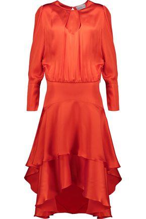 PREEN by THORNTON BREGAZZI Annabelle hammered silk-satin midi dress