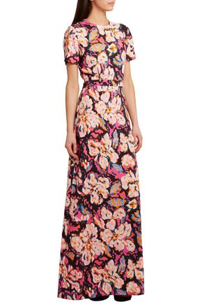 MSGM Printed stretch-crepe gown