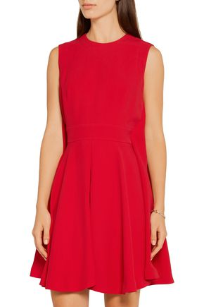 ALEXANDER MCQUEEN Cape-back crepe mini dress