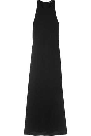 BAJA EAST Twist-back satin-crepe maxi dress