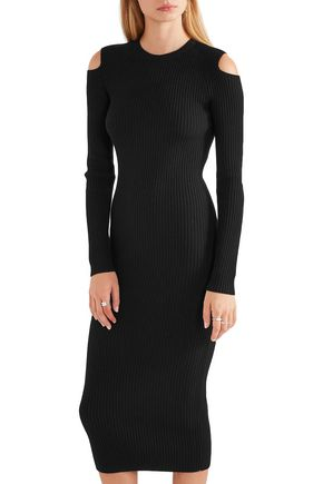 THEORY Jemlora cutout ribbed wool-blend dress