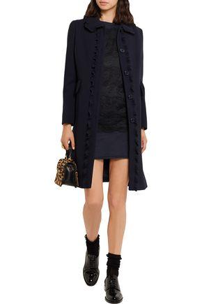 MIU MIU Lace and cotton-jersey mini dress