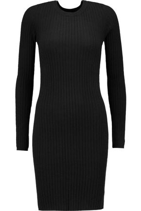 AUTUMN CASHMERE Ribbed cashmere mini dress
