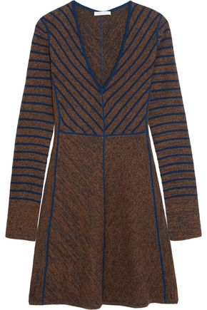SEE BY CHLOÉ Flared striped wool mini dress