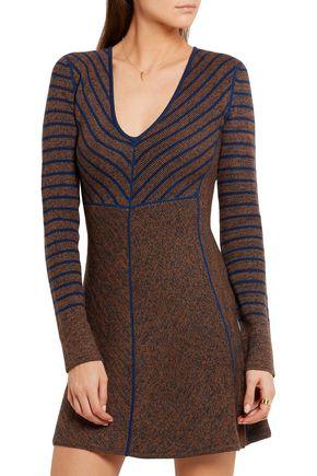 SEE BY CHLOÉ Striped intarsia wool mini dress