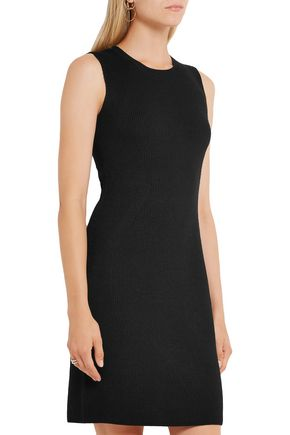 VINCE. Ribbed stretch wool-blend dress