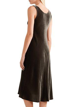 VINCE. Velvet midi dress