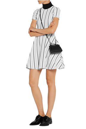 OPENING CEREMONY Striped stretch-knit dress