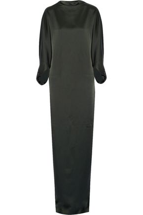 CHALAYAN Crepe de chine maxi dress