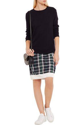 CLU Mix Media cotton and plaid silk-blend dress