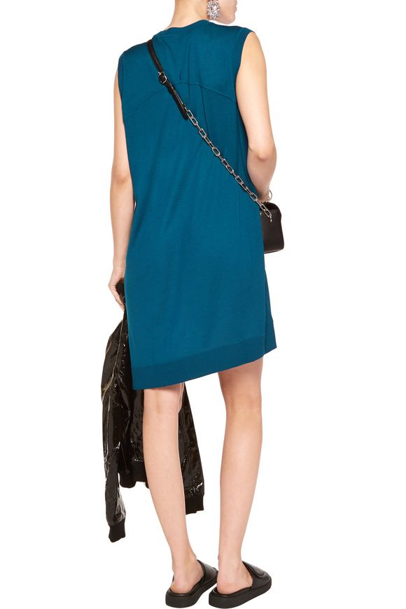 Asymmetric merino wool mini dress | ALEXANDER WANG | Sale up to 70% off |  THE OUTNET