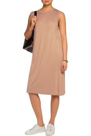 T by ALEXANDER WANG Layered stretch-jersey dress