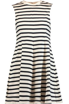 T by ALEXANDER WANG Striped cotton mini dress