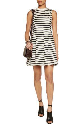 T by ALEXANDER WANG Striped cotton mini dress