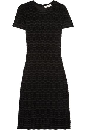 TORY BURCH Metallic merino wool-blend dress