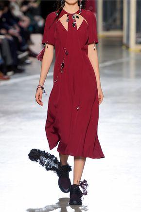 CHRISTOPHER KANE Cutout embellished crepe midi dress