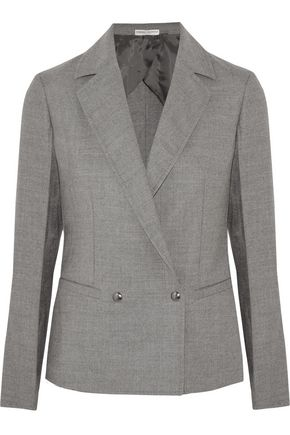 BARBARA CASASOLA Double-breasted wool-blend blazer