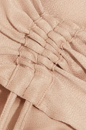 BARBARA CASASOLA Ruched silk dress