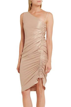 BARBARA CASASOLA Ruched silk dress