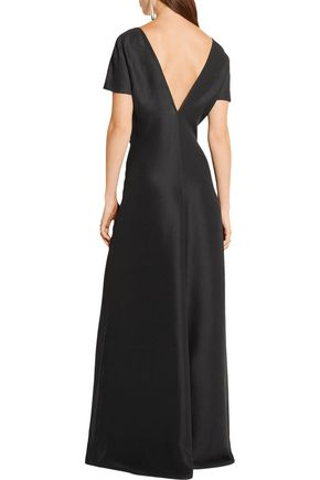BARBARA CASASOLA Silk crepe de chine maxi dress