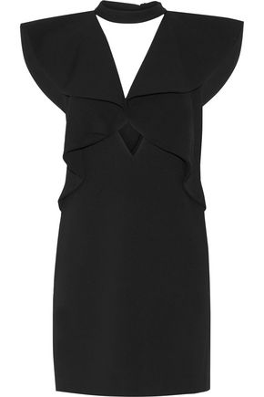 GOEN.J Ruffled stretch-wool mini dress