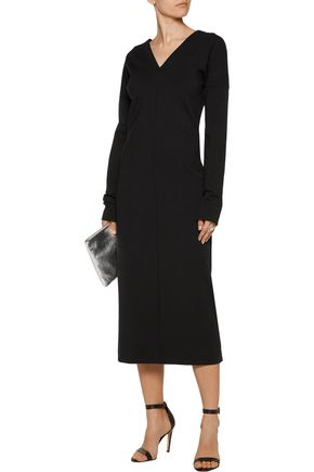 JIL SANDER Wool-blend ponte midi dress