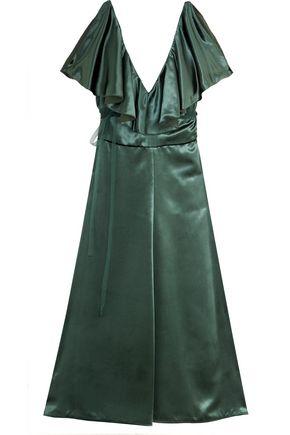 VALENTINO Ruffled velvet dress