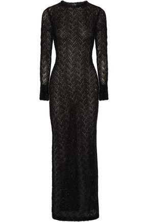 SIBLING Metallic knitted maxi dress