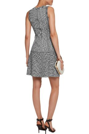 LELA ROSE Stretch intarsia-knit dress