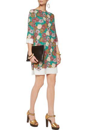 MARNI Printed silk-jersey dress