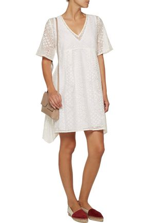 ENZA COSTA Burnout voile mini dress