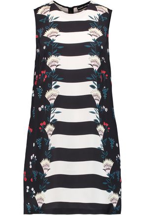 MARKUS LUPFER Cory printed silk mini dress