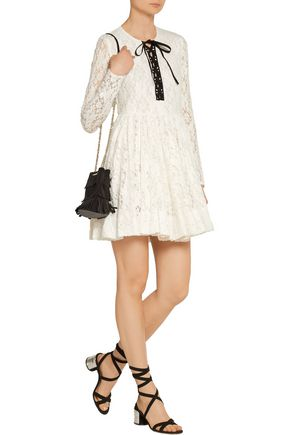MAJE Robby chenille lace mini dress