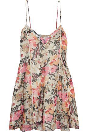 ELIZABETH AND JAMES Idris floral-print silk-chiffon mini dress