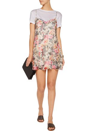 ELIZABETH AND JAMES Idris floral-print silk-chiffon mini dress