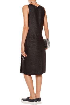 MARC BY MARC JACOBS Metallic buckled wool-blend midi dress