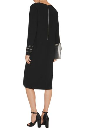 DKNY Embellished crepe dress