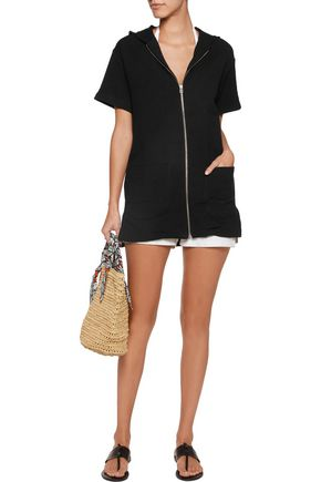 SOLID & STRIPED Cloqué cotton-blend hooded mini dress