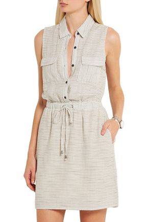 SPLENDID Marina striped woven shirt dress