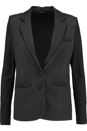 TART Paneled jacquard and stretch-jersey blazer