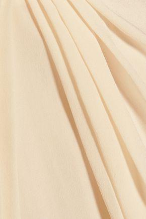 ZIMMERMANN Gathered silk-satin dress