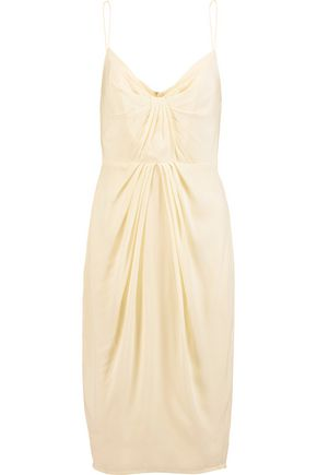 ZIMMERMANN Gathered silk-satin dress