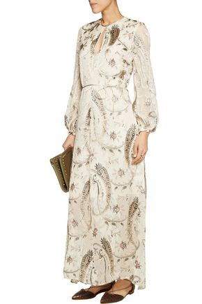 ZIMMERMANN Fil coupé silk-blend maxi dress
