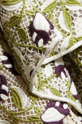 GIAMBATTISTA VALLI Ruffled crocheted cotton-blend dress