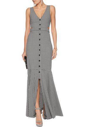 MARISSA WEBB Judith gingham knitted maxi dress