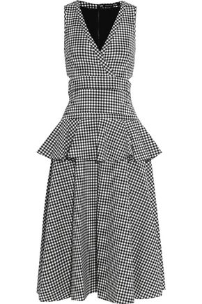 MARISSA WEBB Lorraine layered gingham crepe midi dress